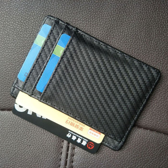 Leather Carbon Fiber Wallet