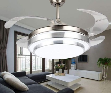 Modern Minimalist Brushed Remote Ceiling Fan