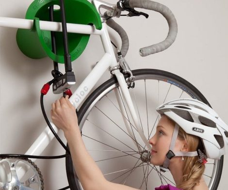 Cycloc Solo - Elegant Wall Mount Bike Storage Rack