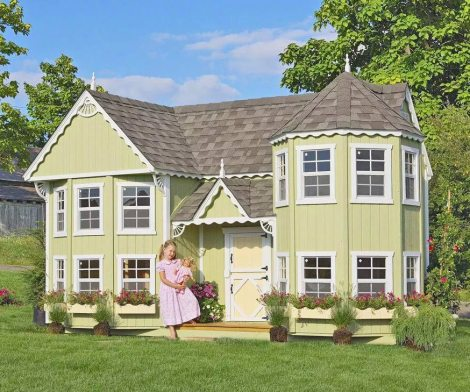 Mini Mansion Outdoor Playhouse For Kids