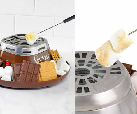 Flameless Marshmallow Toaster Lets You Make S'mores Indoors