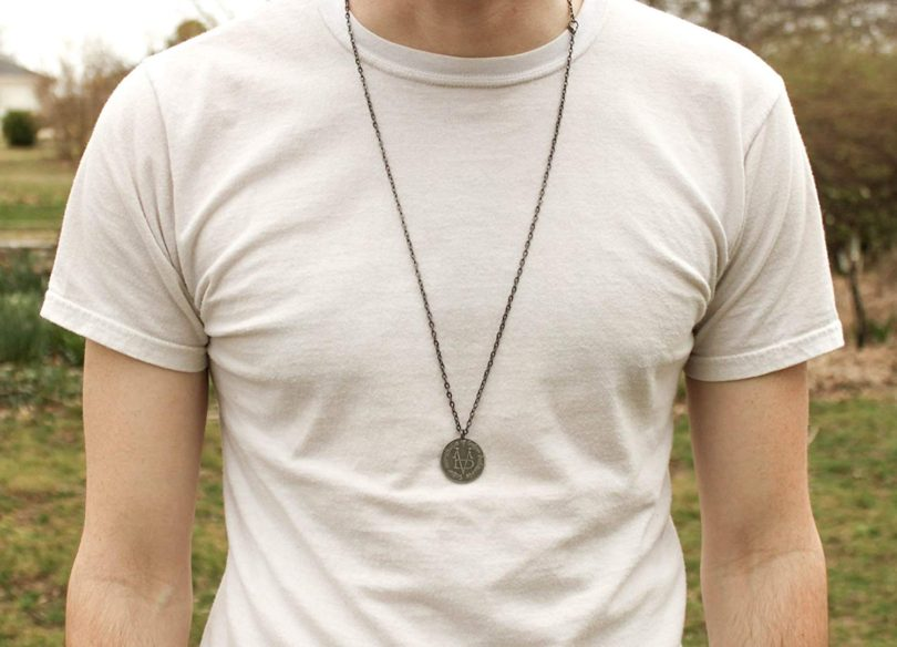 Valar Morghulis Necklace – Stainless Steel Coin on Gunmetal Chain
