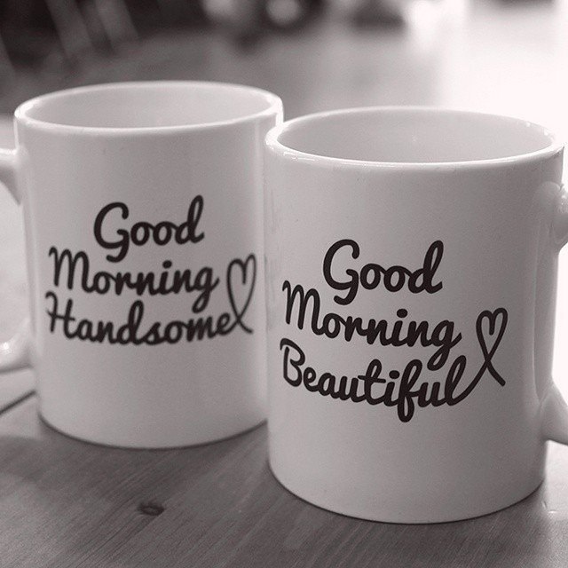 Good Morning His & Hers Mug Set