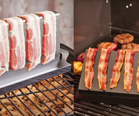 Stainless Bacon On The Grill Cooking Rack