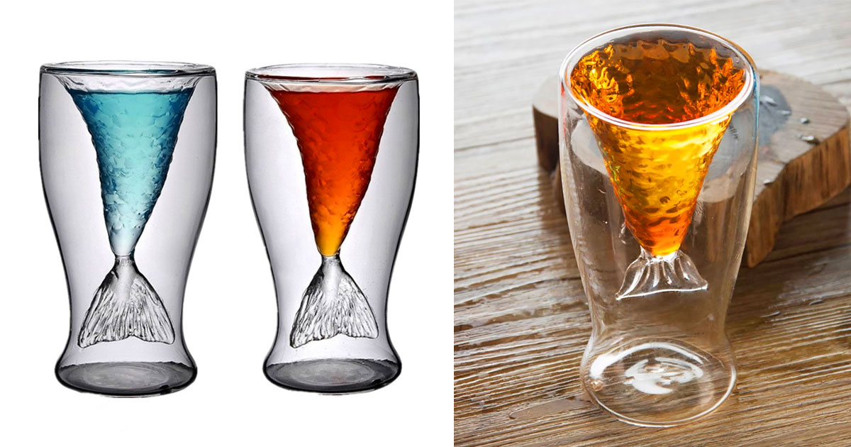 Mermaid Tail Cocktail Glasses