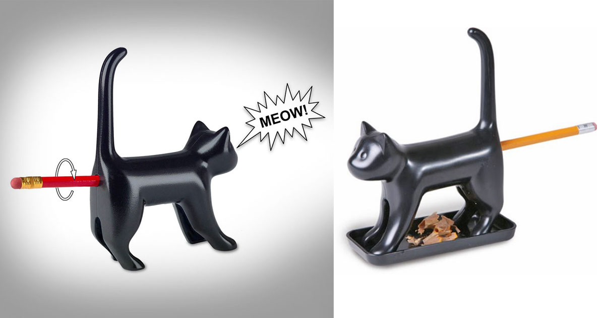 Cat Butt Pencil Sharpener Meows As You Sharpen