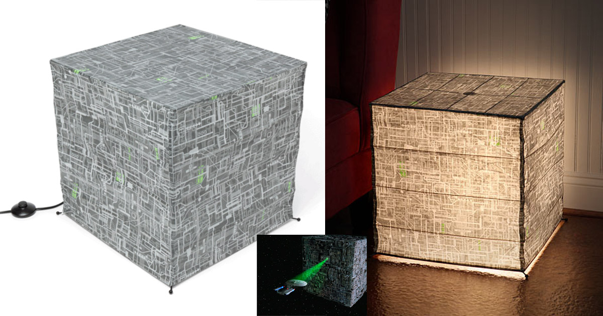 Star Trek Borg Cube Giant Floor Lantern