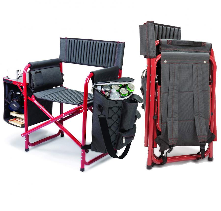 Folding Backpack Chair With Cooler and Side Table