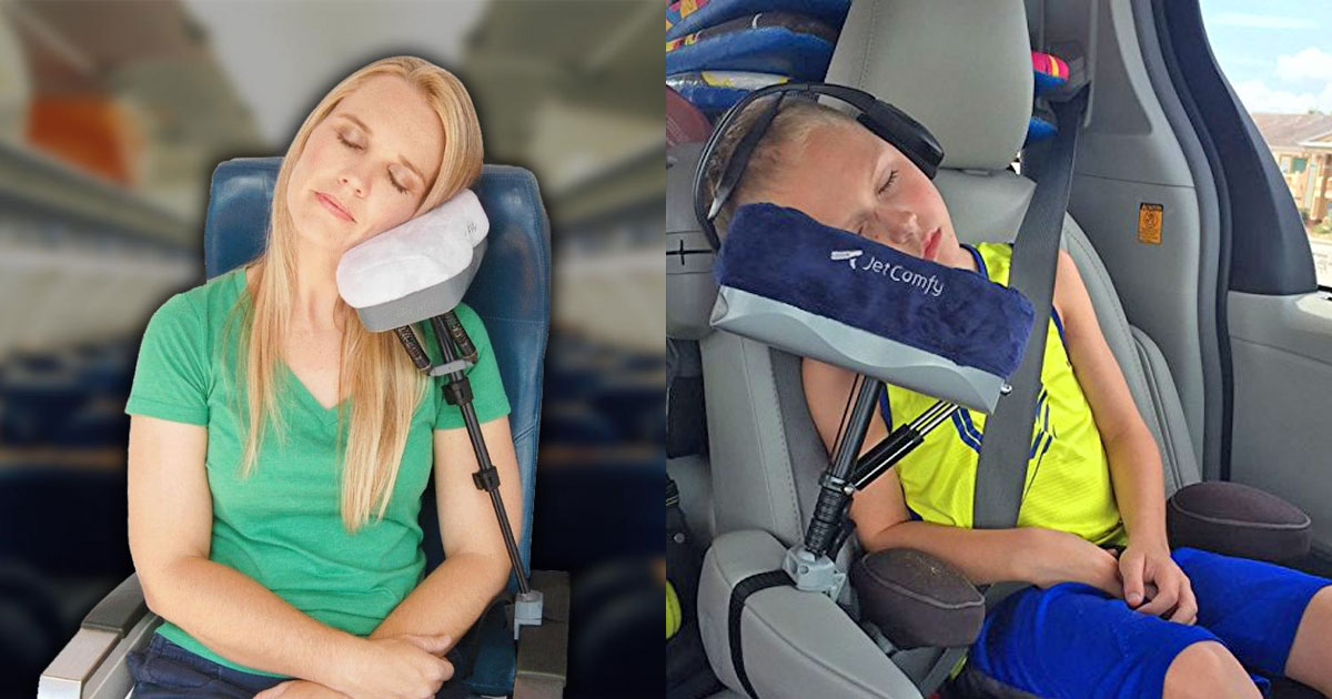 JetComfy: A Multi-Function Travel Pillow That Can Charge Your Phone
