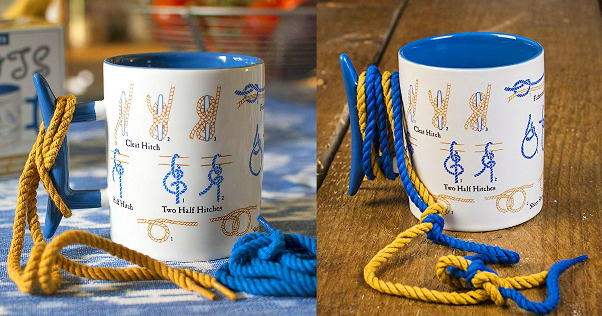 Knot Tie Coffee Mug Teaches You How To Tie Knots