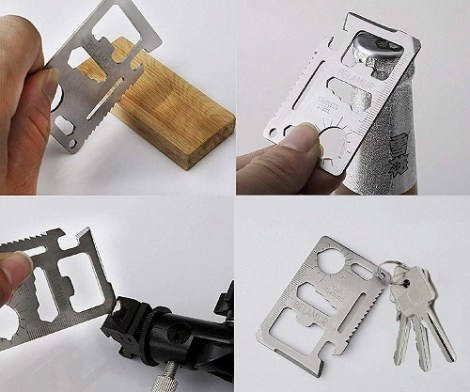 11 Tools in 1 Beer Opener Card Survival Tool