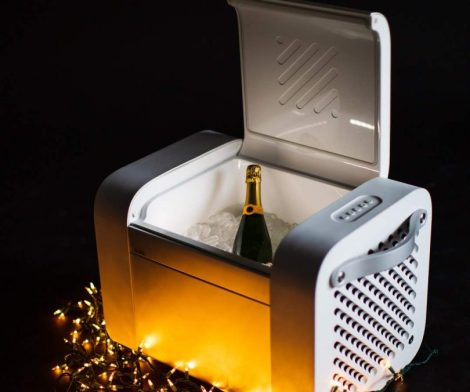 KUBE Bluetooth Speaker with Cooler Storage