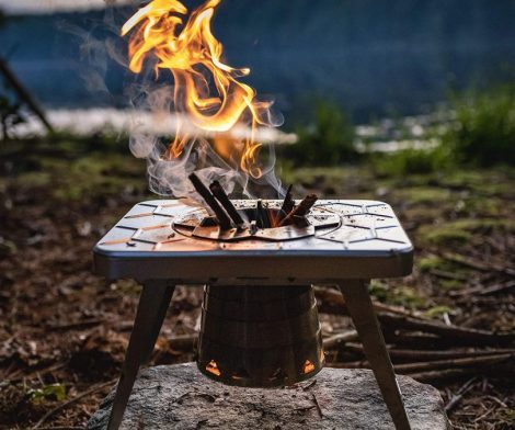 Portable Wood Burning Camping Stove for Backpacking and Hiking