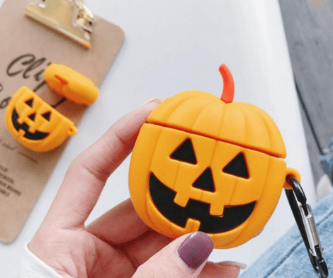 Pumpkin Anti-Lost Protective Cover Case for Apple Air-Pods