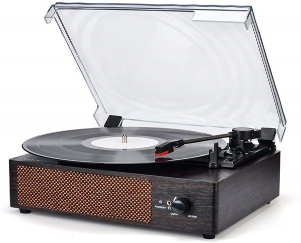 Wireless Turntable Record Player with Stereo Speakers