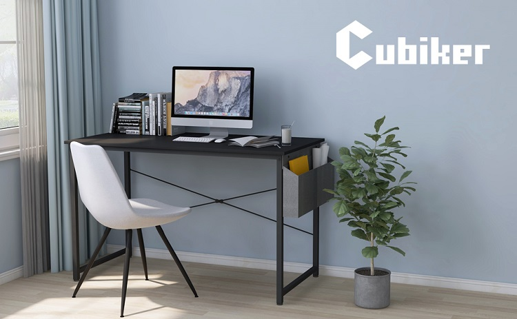 Cubiker Multipurpose Modern Style Computer Desk with Storage Bag