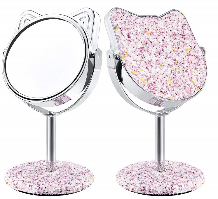 Kitty Glittering Makeup Vanity Mirror