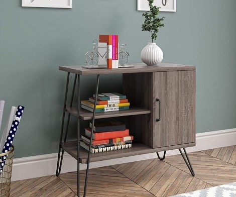 Ameriwood Home 3 Shelf Gray Oak Bookcase