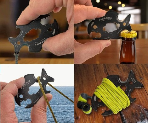 Piranha Multitool Keychain Bottle Opener