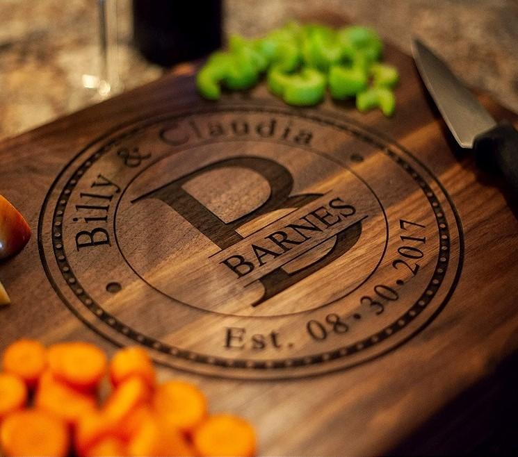 Personalized Keepsake Walnut Cutting Board