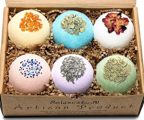 Organic Bath Bombs Gift Set