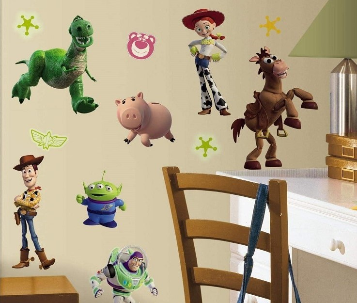 Toy Story 3 Glow In The Dark Wall Decals