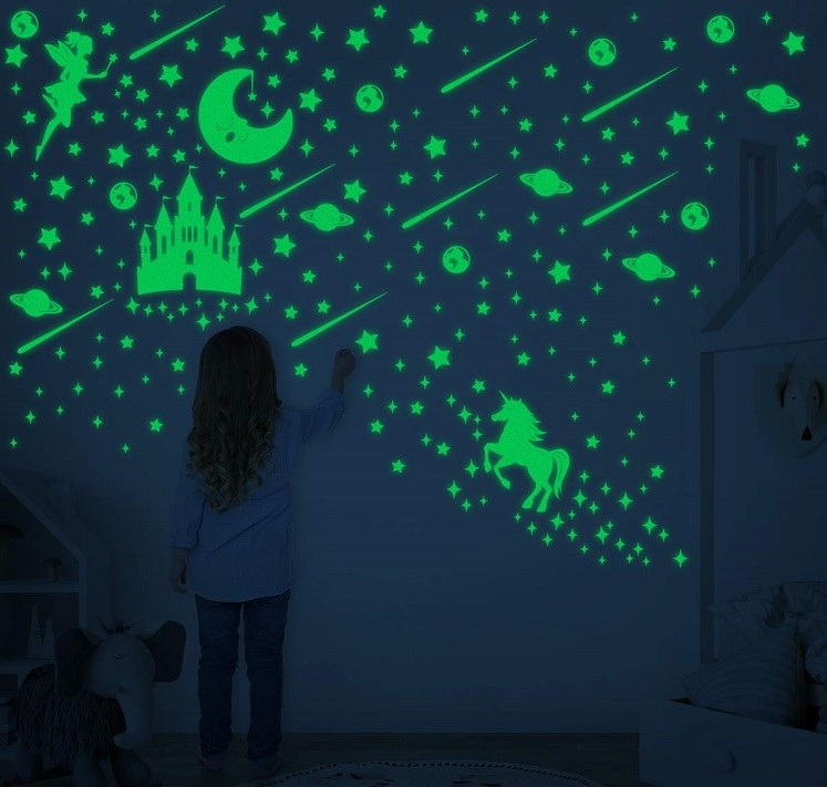 Glow in The Dark Stars Stickers for Ceiling Luminous Wall