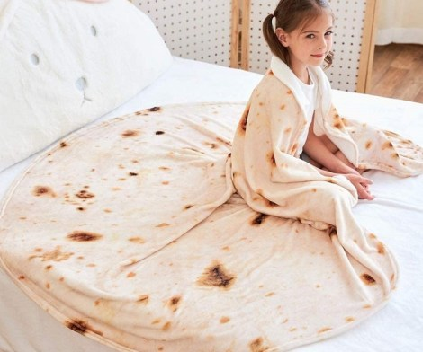 Taco Burrito Blanket for Kids