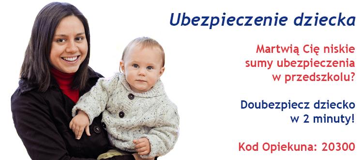 Ubezpieczenie NNW Przedszkolne - Bezpieczny.pl i AXA - 10% zniżki z kodem Opiekuna 20300