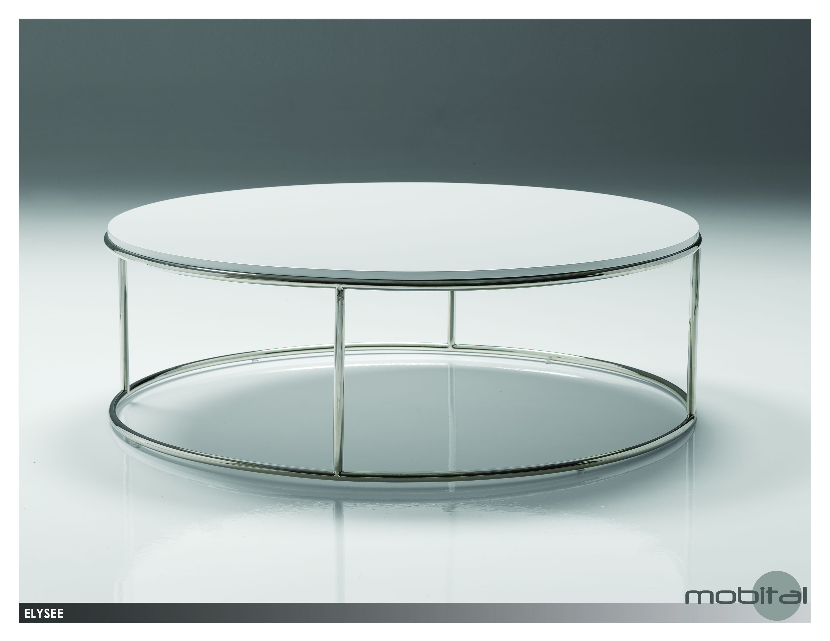 White Gloss Round Coffee Table