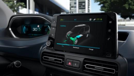 2021 Peugeot eRifter Cockpit Peugeot e-Rifter