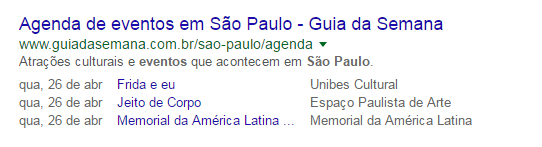 rich snippets para eventos