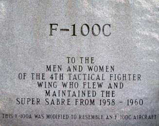 F-100C didication plaque