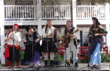 The Motley Tones play outside the Dockhouse Restaurant.