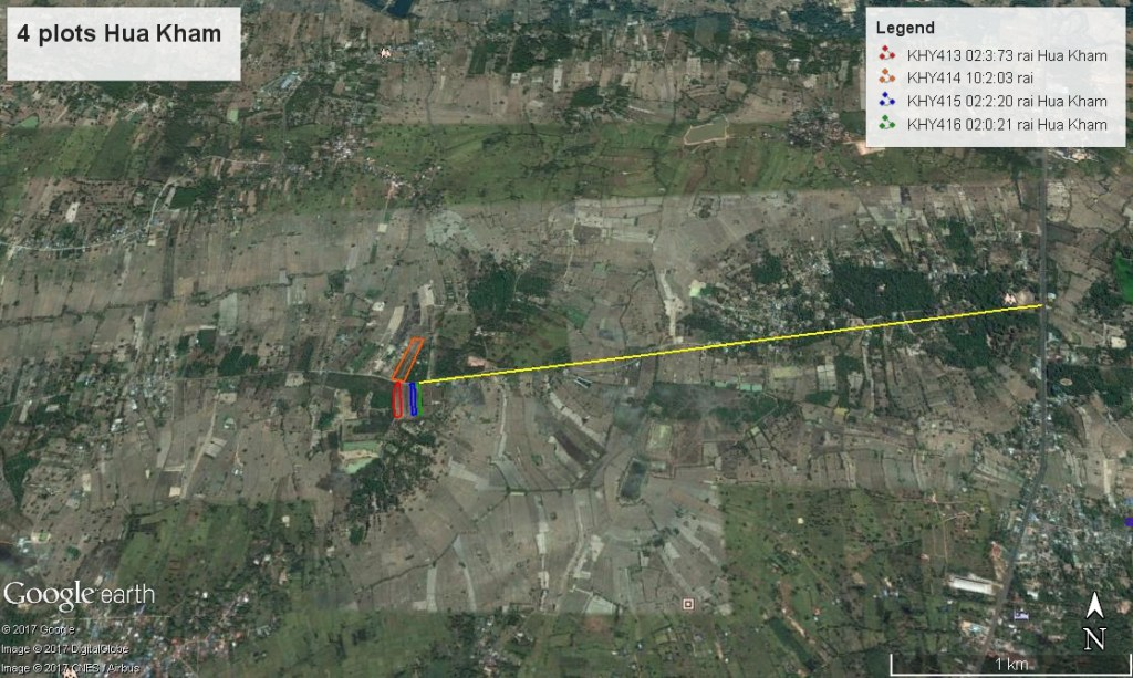 Location of10 rai Baan Hua Kham