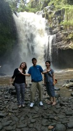 Tegenungan Waterfall with guest
