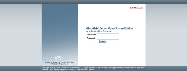 Glassfish login page