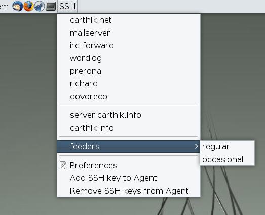 SSH Menu