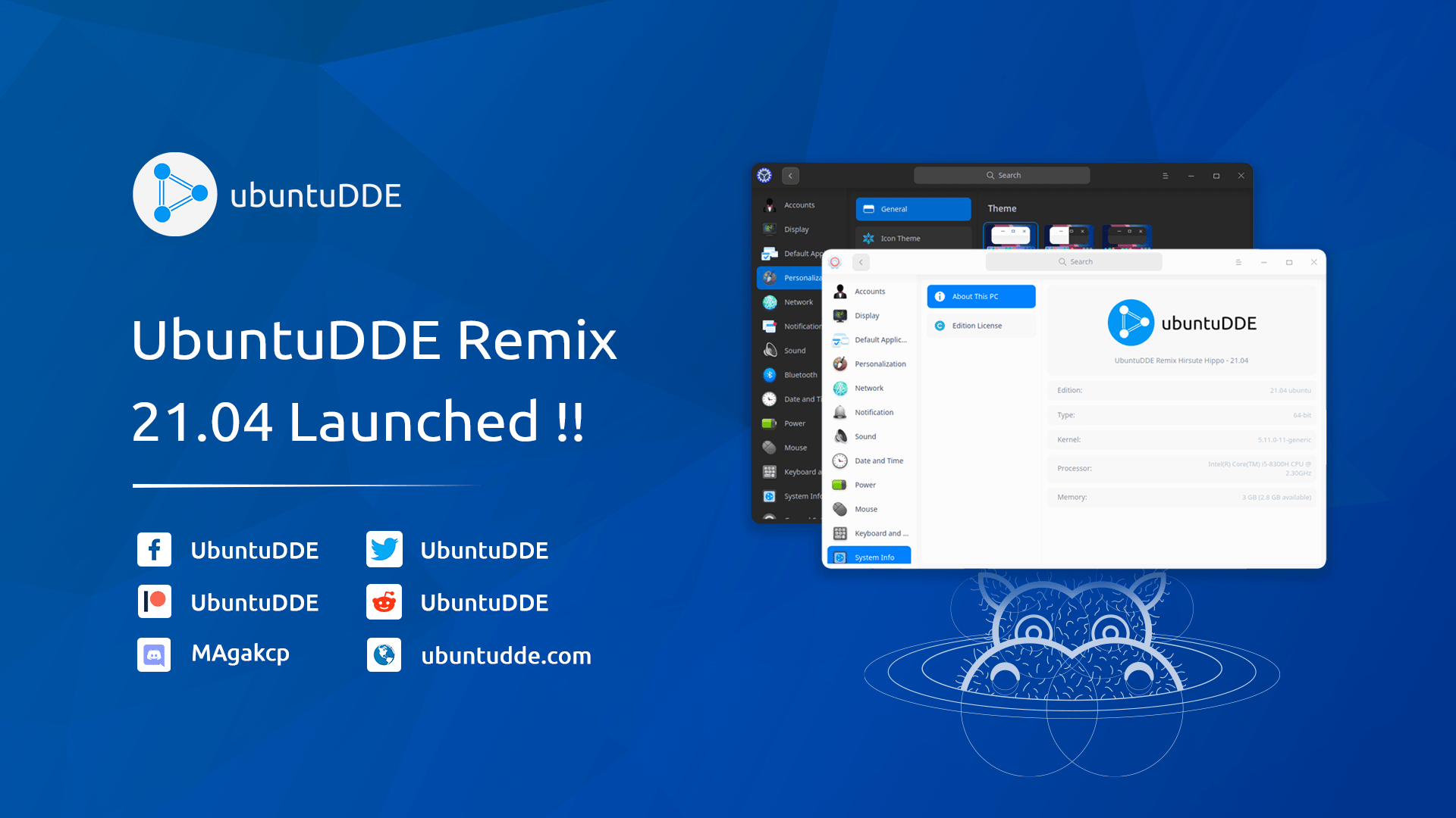 UbuntuDDE Remix 21.04 Release