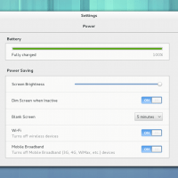 Gnome 3.8 settings power