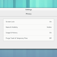 Gnome 3.8 Settings Privacy