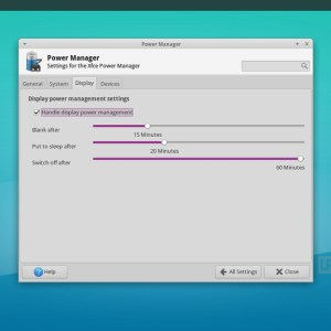 xfce 4.12 : power manager