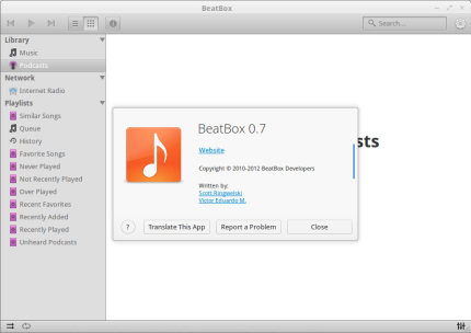 Install New BeatBox 0.7 Music Player in Ubuntu 12.10