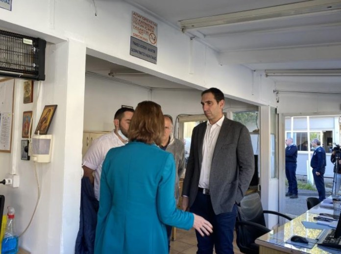 Health Minister Constantinos Ioannou said on Saturday that an additional nurse will staff the crossing point at Agios Dometios, where there is heavy traffic after a Cabinet decision, on Friday, to temporarily suspend the operation of four crossing points as a measure to prevent the spread of coronavirus.