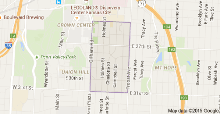 google map showing longfellow neighborhood