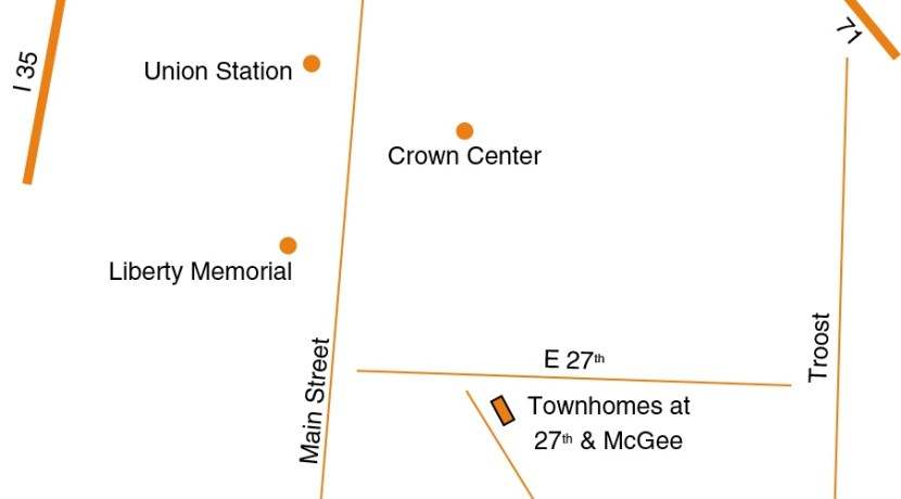 Townhomes at 27th and McGee Line Map