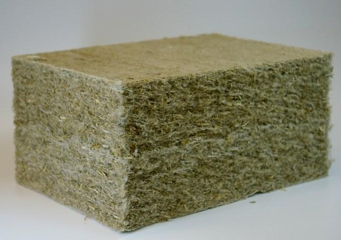 Placa de lana para aislamiento