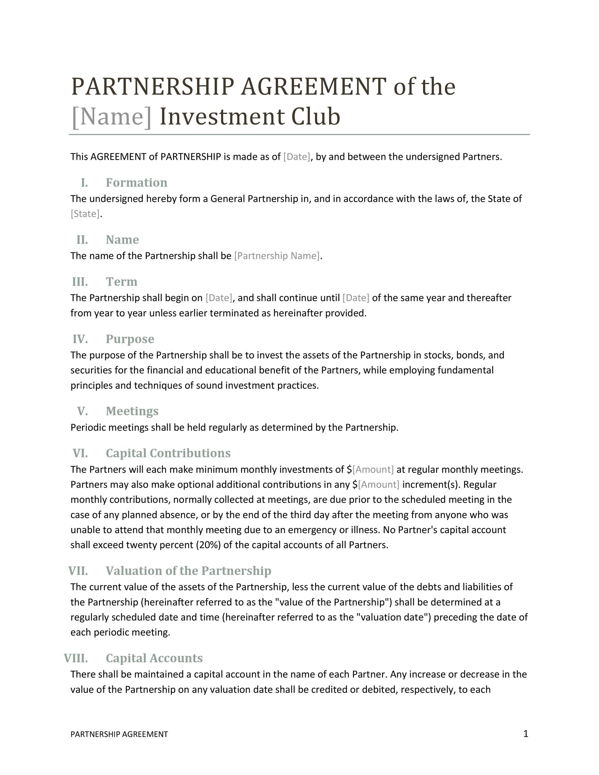 This business partnership agreement pdf template is efficient to use as it allows the user to draft an agreement simply by entering relevant information and other pertinent details on the form provided. Partnership Agreement Template By Business In Box Collaboration Example