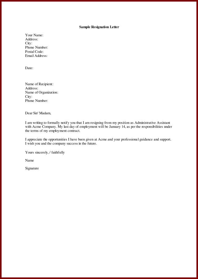 Staff Nurse Resignation Letter Sample Job In English Employee