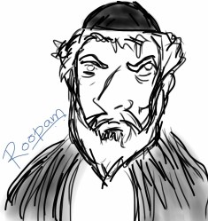 Shylock - a Jewish moneylender - from Shakespeare's The Merchant of Venice - by Roopam